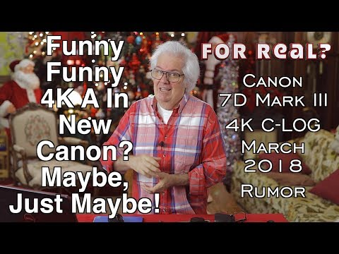 New Canon 7D Mark III With 4K & C-Log Rumored