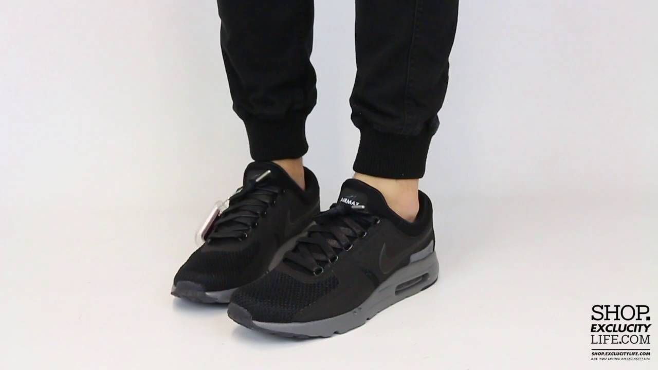 c39642141093 Nike Air Max Zero QS Black Anthracite On feet Video at Exclucity ...