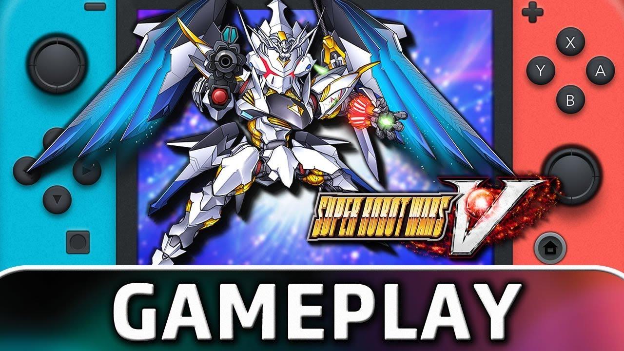 SUPER ROBOT WARS V | 5 Minutes of Gameplay on Nintendo Switch