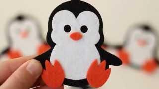 Keçe Sevimli Penguen Magnet Bebek Şekerleri- Özel Tasarım
