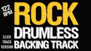 Rock Backing Track For Drums 122 BPM With Metronome