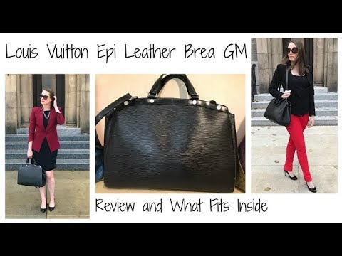 d57fc44ec80 Louis Vuitton Brea GM Epi Leather Tote Review & What Fits Inside/What's In  My Work Bag