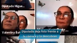 """""""Y yo pensando que usted le estaba poniendo mucha atención a mi discurso"""", dijo el perredista Jorge Gaviño, al evidenciar en video a Valentina Batres"""