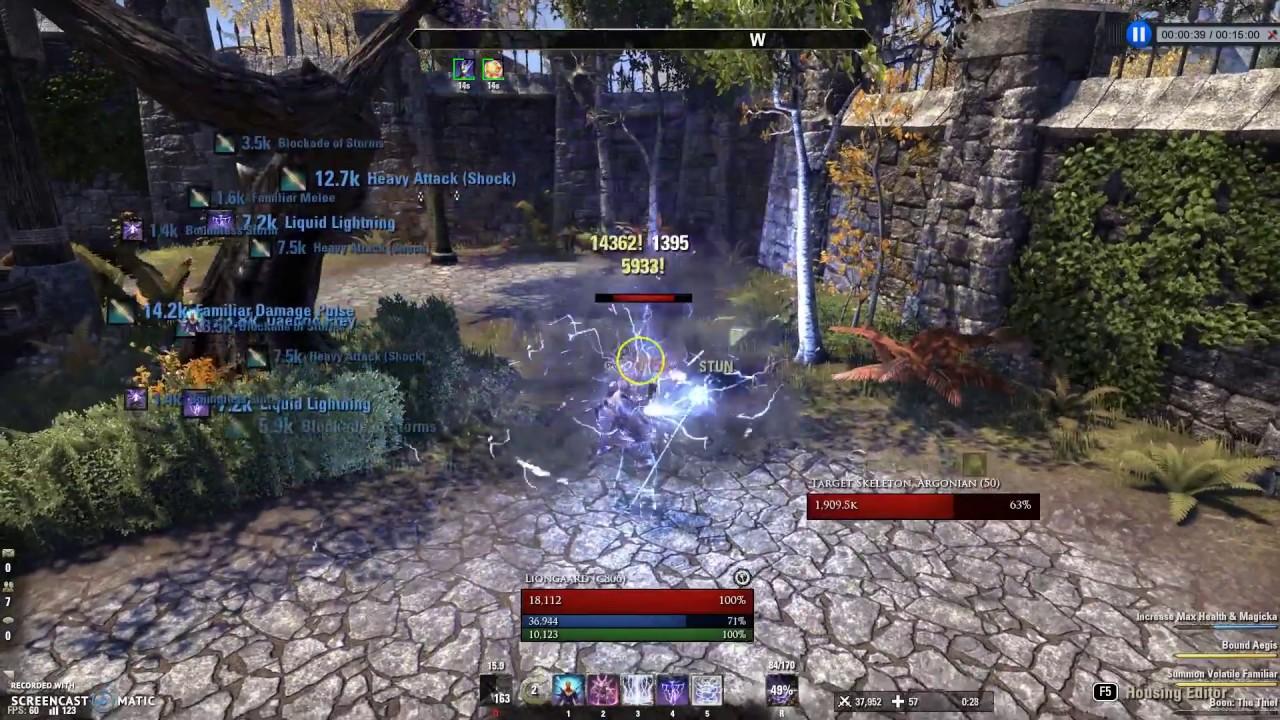 Sorcerer PVE DPS - 35k Easy Rotation AOE Build for Morrowind