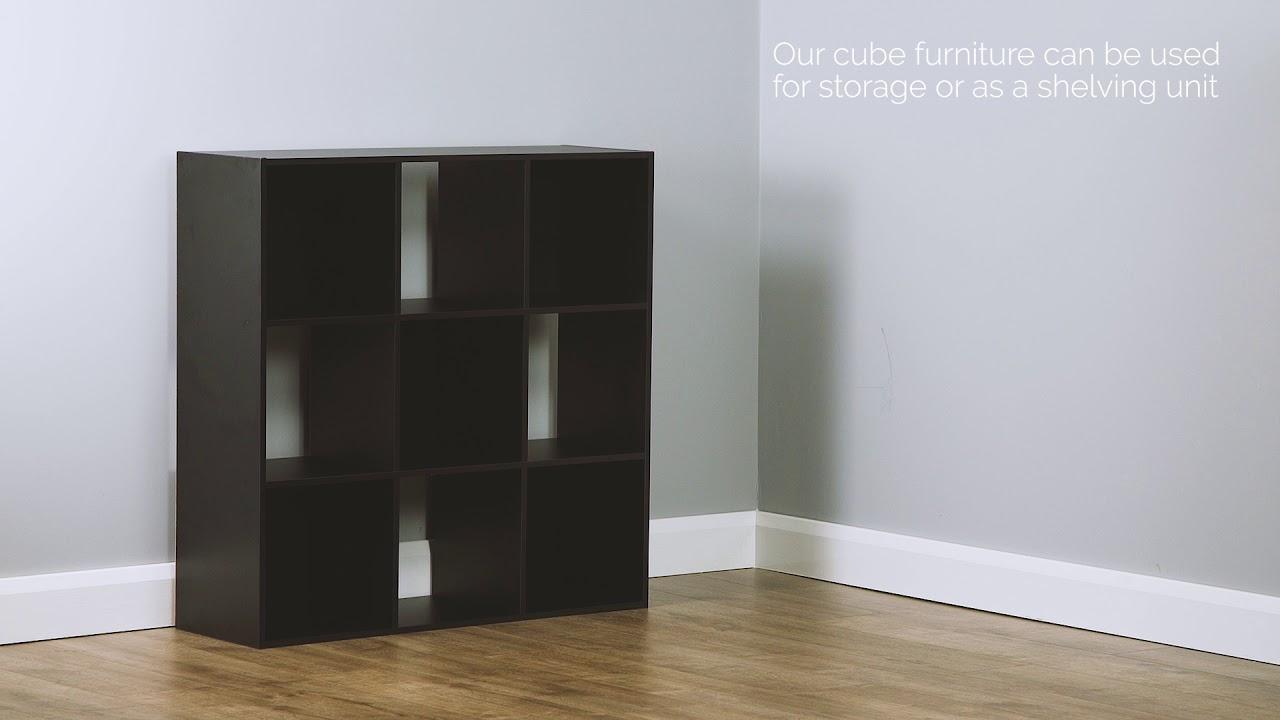 Hartleys Direct Black 9 Cube Storage Unit