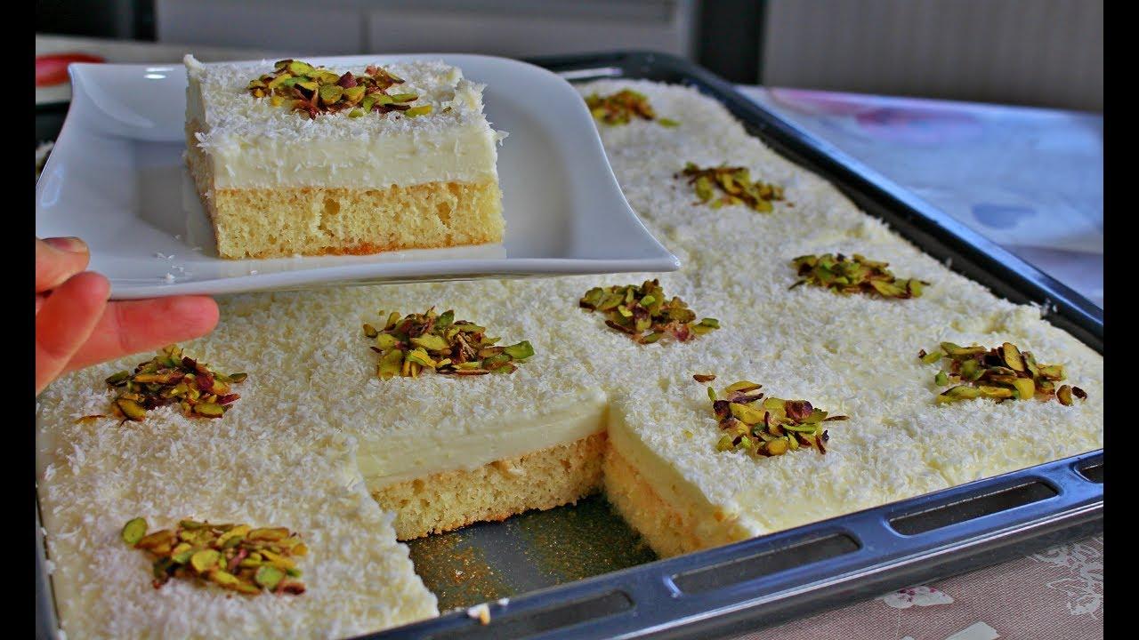 Dunyanin en kolay ve bereketli pastasi Afyon kaymağı Pastası