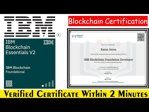 IBM Blockchain Foundation Developer FREE Certification | Learn How to Develop Smart Contracts? #IBM