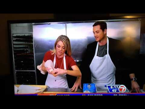 Jesse Lee Soffer making cannolis at Mike's Pastry in Boston