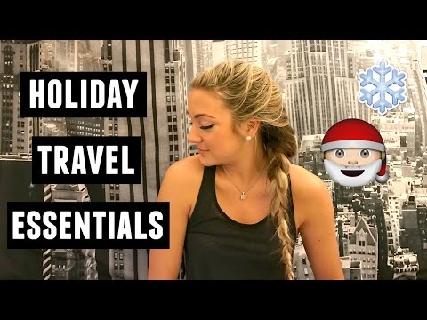 Winter Travel Essentials for the Holiday's 2016!