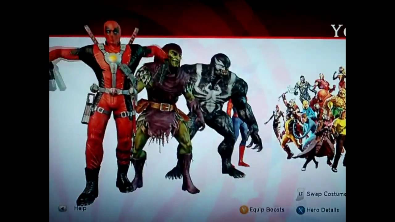 Marvel ultimate alliance characters very