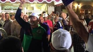 Demonstrators debate Obama at Versailles Restaurant in Miami