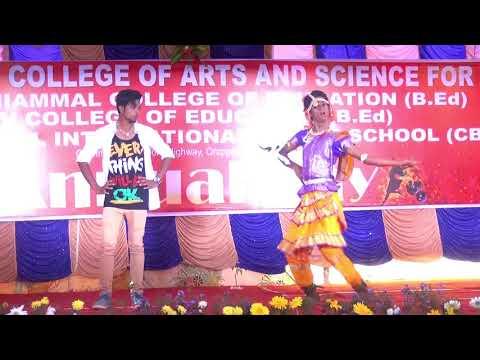 sivagamiammal college Cs Department 1 ndyear year boy acting laka laka Chandramukhi