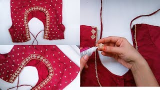 Download How To Make Designer Blouse At Home||Stone work Blouse Design Mp3 and Videos