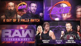 WWE 205 LIVE Y WWE RAW CRUISERWEIGHT 2017 REMAKE MATCH CARD PSD Y PARTES BY Jika