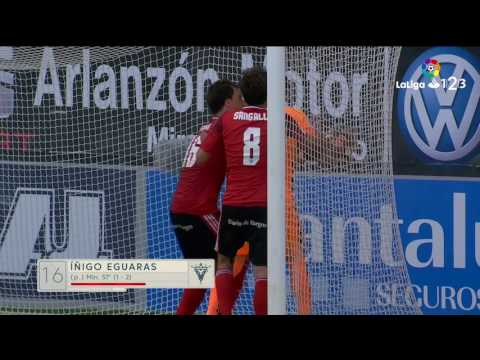 Resumen de CD Mirandés vs Real Valladolid (2-2)