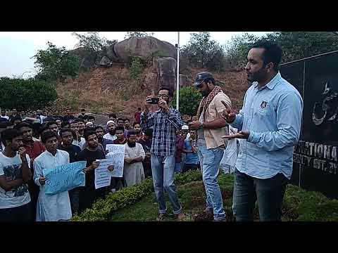 Attaullah Neyazi Union President MANUU 2017-18 demand justice for ashifa Hyderabad