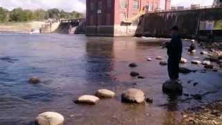 USA КИНО 212. Одноэтажная Америка. Рыбалка возле гидроэлектростанции.