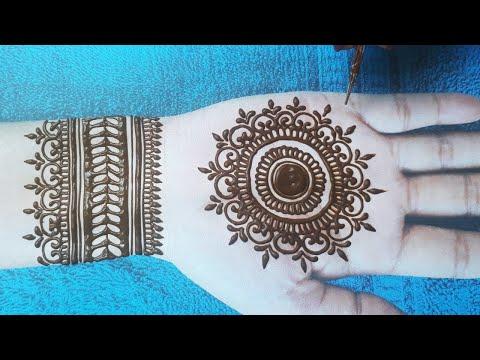 इस मेहँदी ट्रिक से कोई भी मेहँदी लगाना सीख ले - Gol Tikki Mehndi Trick design - Rakhi Special Mehndi