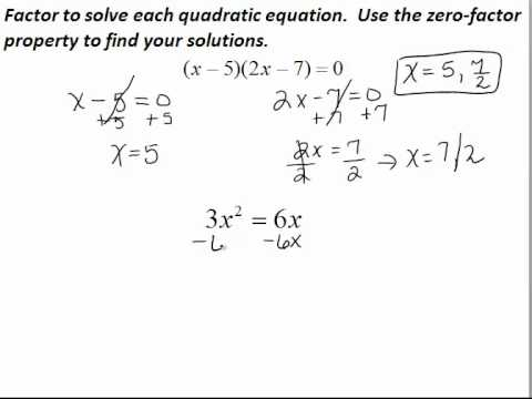 earliest methods used to solve quadratic To solve a quadratic equation the babylonians essentially used the standard formula they considered two types of quadratic equation, namely x 2 + bx = c and x 2 - bx = c.