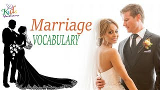 Vocabulary Practice|Marriage Wedding-Vocabulary| English Words | Toddler Learning | Kids