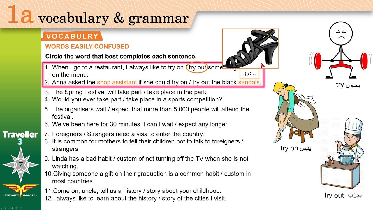 Traveller 3 1a VOCABULARY - WORDS EASILY CONFUSED ...