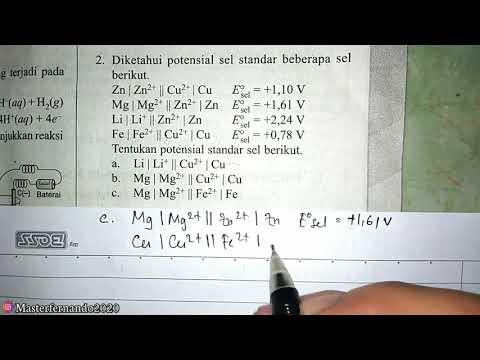 Elektrokimia Sma Kelas 11 Contoh Soal Potensial Sel Sel Volta Youtube