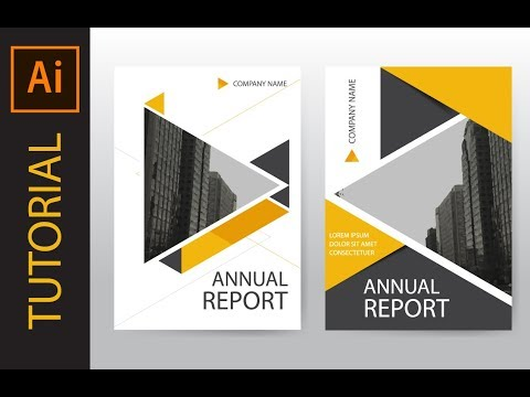 How To Design Annual Report Cover, Brochure And Flyer : Illustrator Tutorial