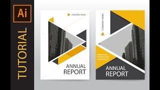 Video How to design annual report cover, brochure and flyer : illustrator tutorial download MP3, 3GP, MP4, WEBM, AVI, FLV Juli 2018