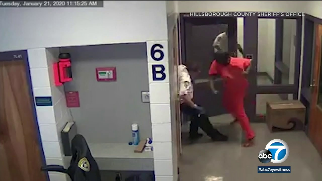 PRISON FIGHT: Florida inmate punches deputy multiple times in face | ABC7