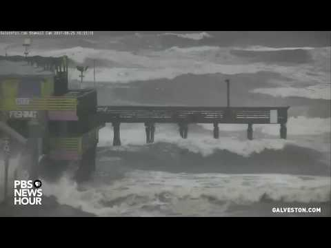 WATCH: Hurricane Harvey makes landfall in Galveston, Texas