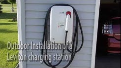 Leviton  40 amp outdoor charging station installation.