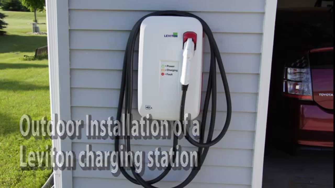 Leviton 40 Amp Outdoor Charging Station Installation