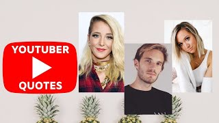 Inspirational Quotes From Successful Youtubers We All Love 💛 // Quotes With Funny GIF`s 😂