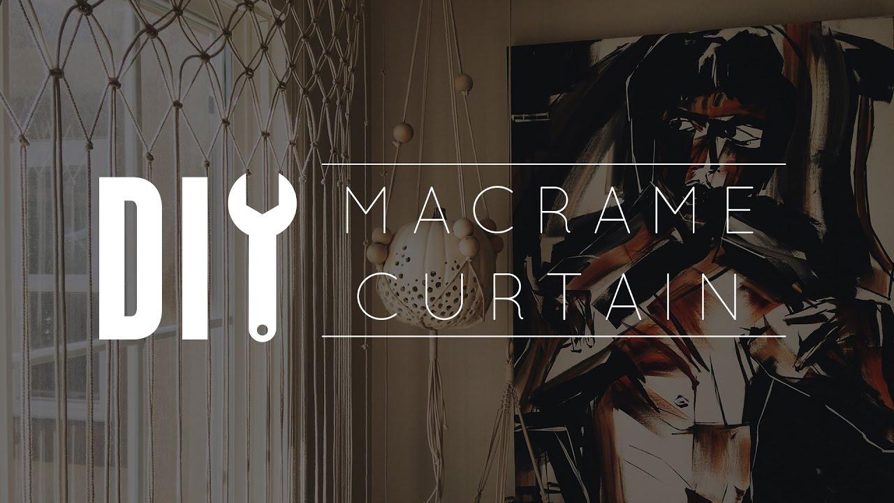 Macrame Curtains Part - 44: DIY Macrame Curtain - YouTube