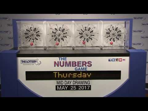 Midday Number Game Drawing: Thursday, May 25, 2017