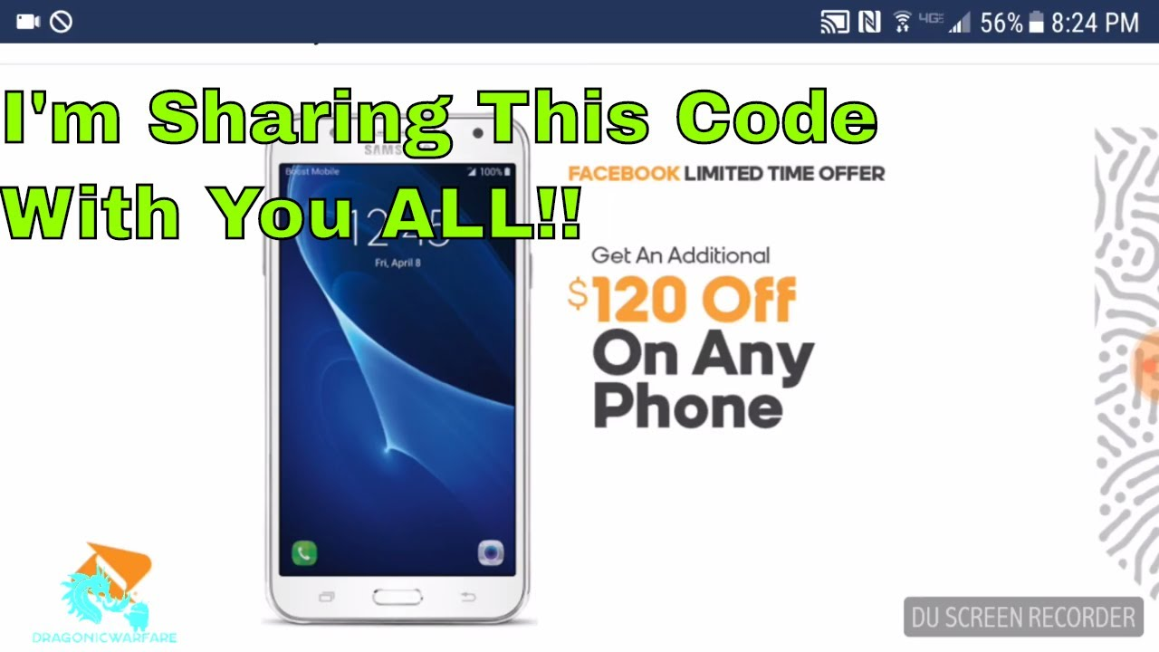 I Got My $120 Off Boost Mobile Facebook Promo Code Im Sharing it With You  All!