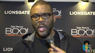 Tyler Perry - On Being A Black Filmmaker (Boo! Red Carpet Interview)