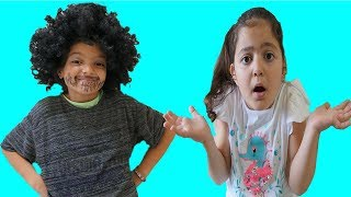 Cute dad Masal with funny kids video