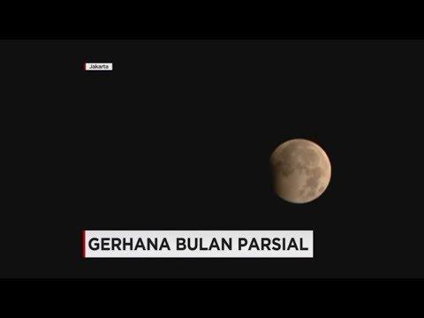 Ramai-ramai Menyaksikan Gerhana Bulan Parsial