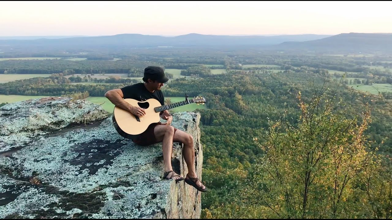 "Trace Bundy - ""Communion"" on a cliff in Arkansas"