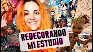 REDECORANDO MI ESTUDIO | MARVEL, TWD, HP ⭐| Andrea Compton