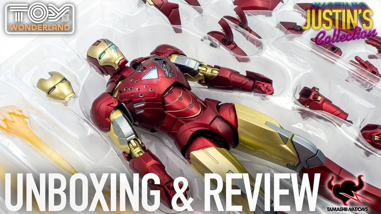 S.H.Figuarts Iron Man MK6 Avengers Battle Damage Edition Unboxing & Review
