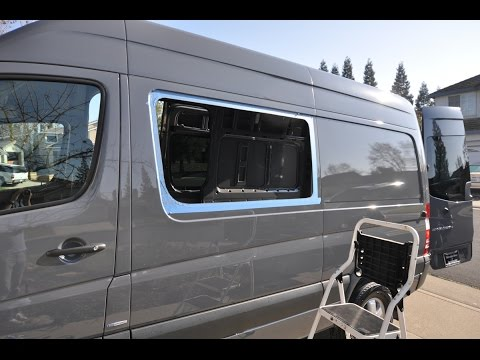 Mercedes Sprinter Camper Van Window Install Youtube