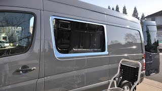 Mercedes Sprinter camper van window install