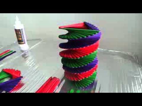 Ice Cream Stick Popsicle Stick Vase Youtube