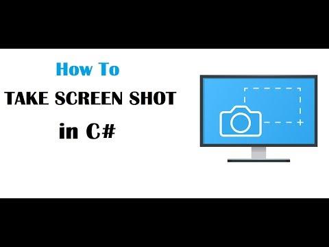 C# ScreenShot Program in Windows Form Application