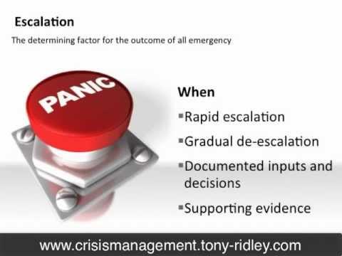 Crisis Management and Leadership Training:37.Warning indicators by Tony Ridley