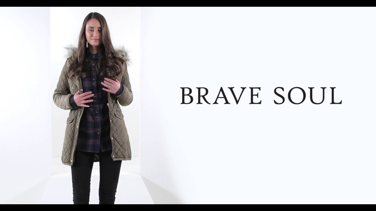 24studio - Brave Soul Quilted Jacket - YouTube : brave soul quilted jacket - Adamdwight.com