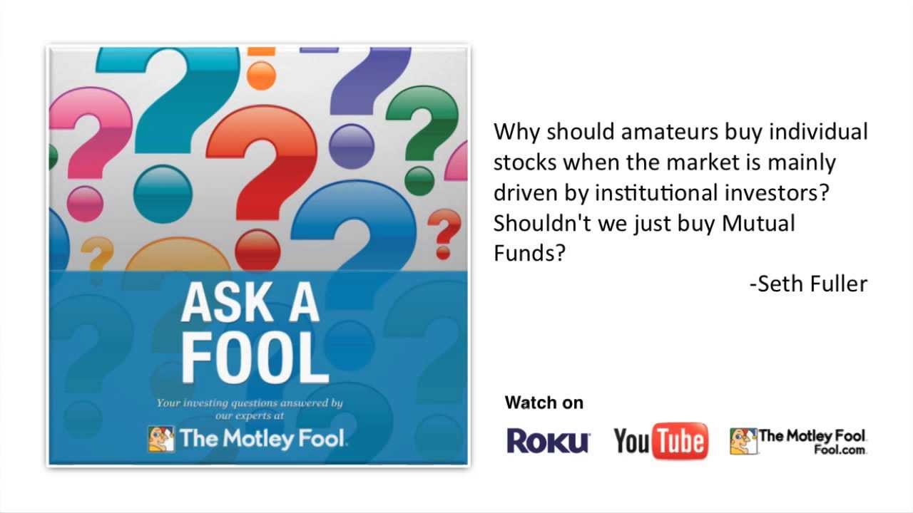 Why Should Amateurs Buy Individual Stocks?