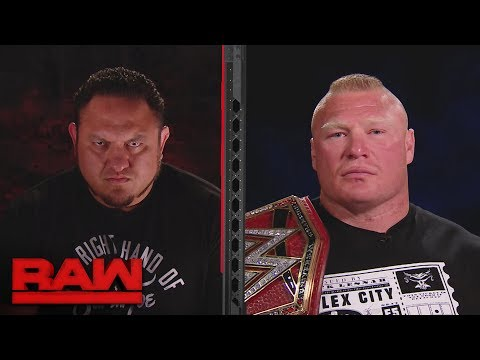 Brock Lesnar and Samoe Joe's split-screen interview gets int